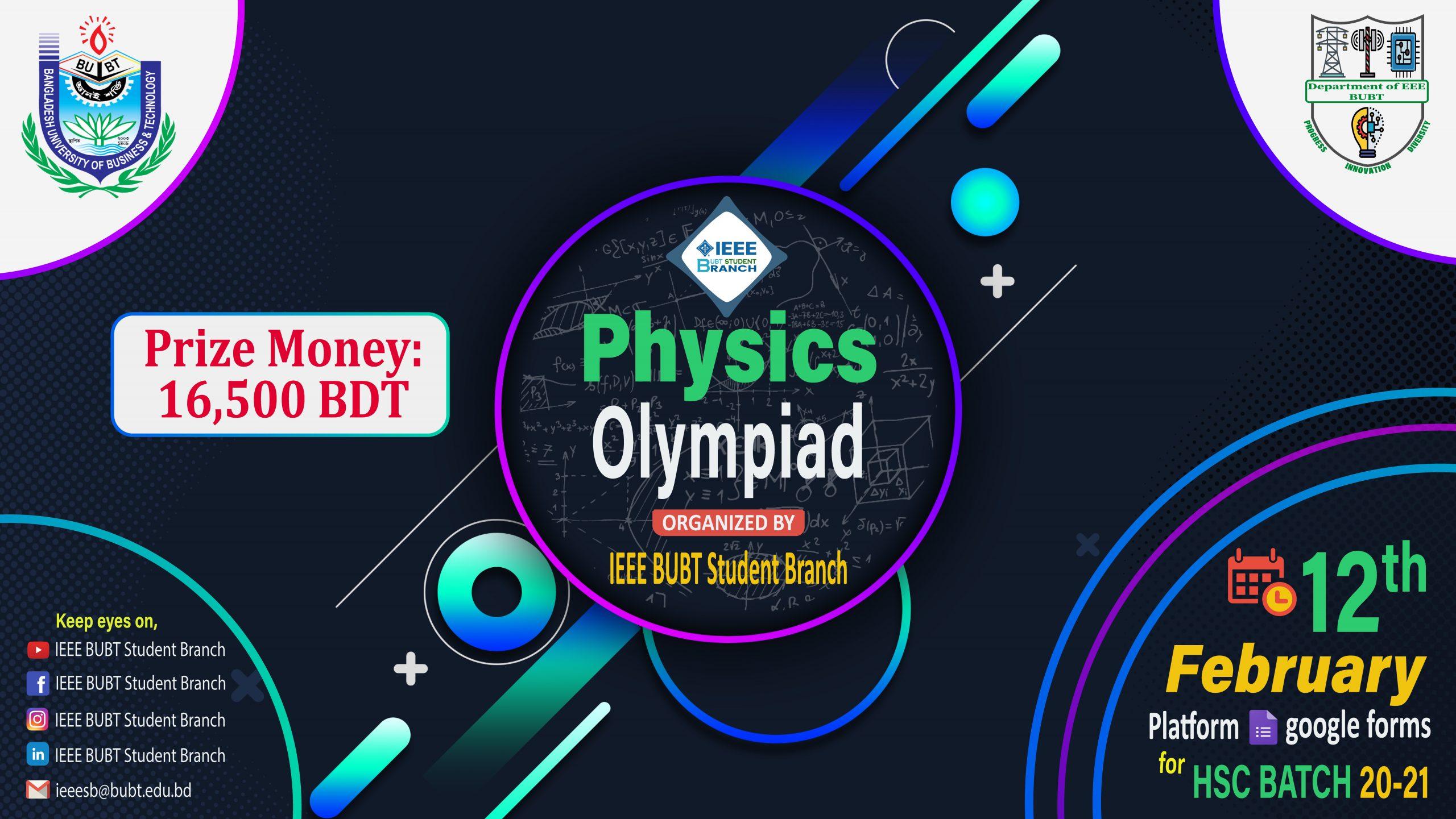Physics Olympiad for HSC Batch 20-21