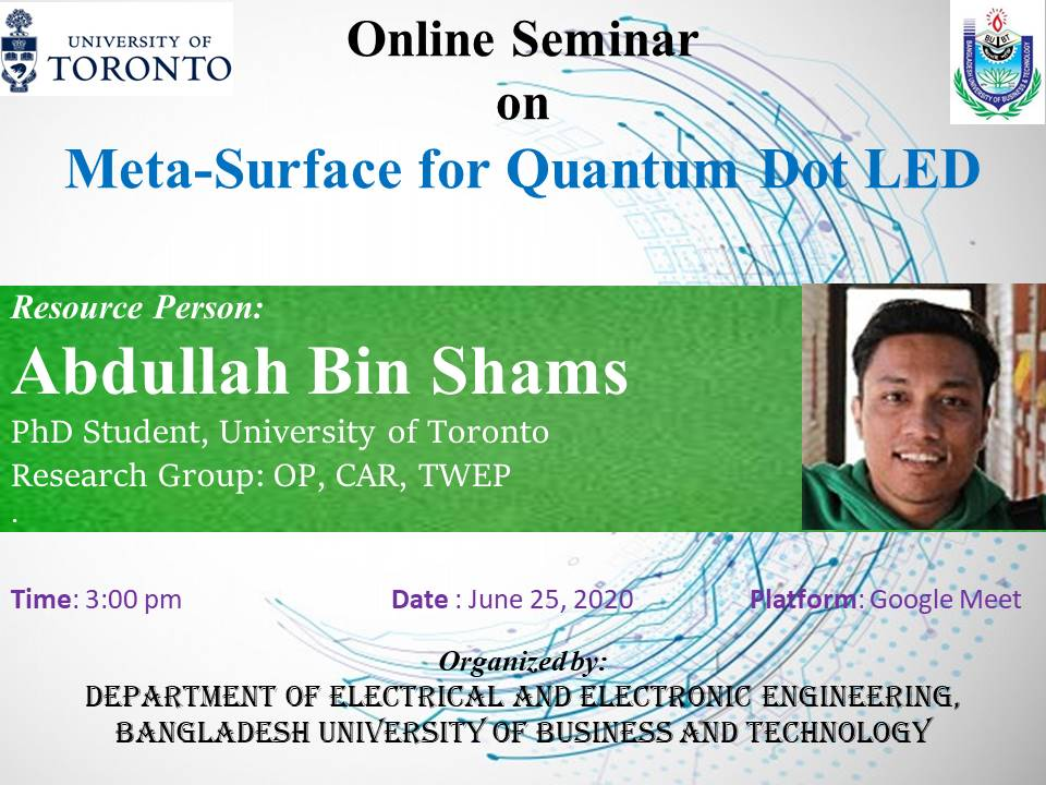 Online Seminar on Meta-Surface for Quantum Dot LED