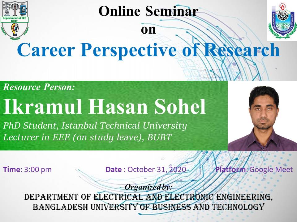 Online Seminar on Career Perspective Reasearch