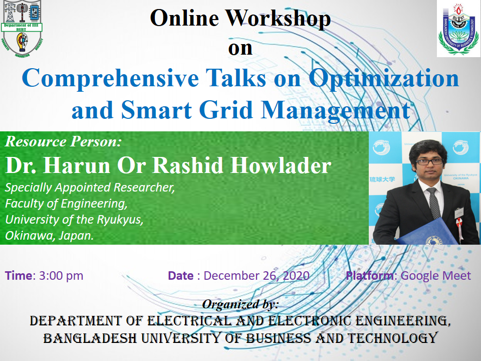 Comprehensive Talks on Optimization and Smart Grid Management