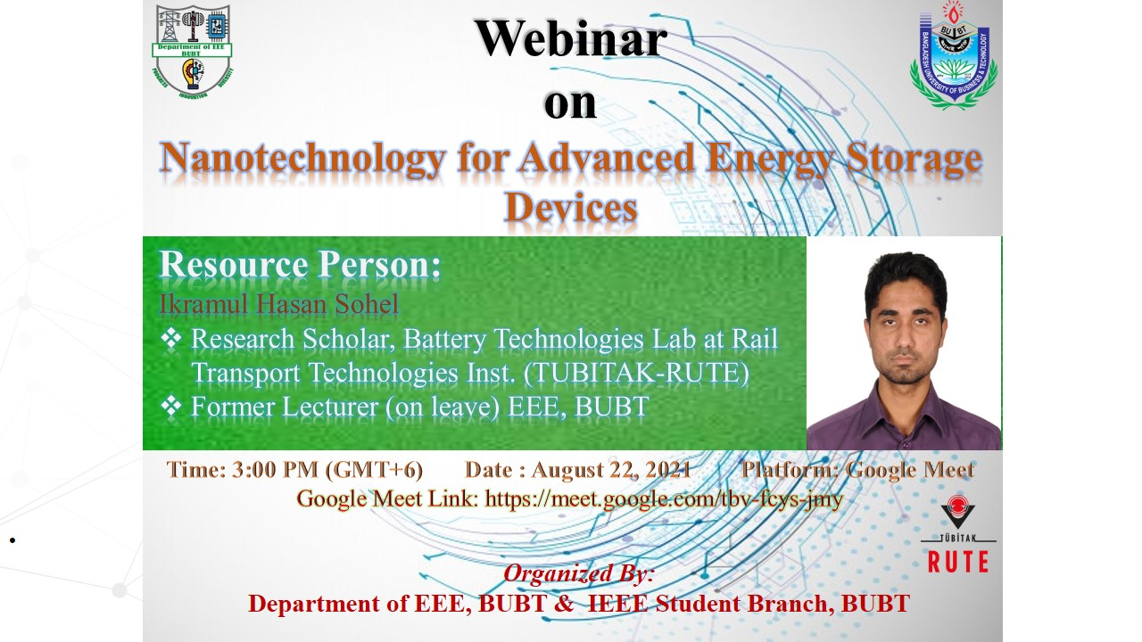 """Research Presentation on """"Nanotechnology for Advanced Energy Storage Device"""""""
